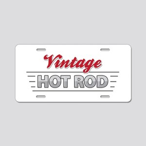 Vintage Hot Rod Aluminum License Plate